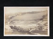 Victorian Photo: Cabinet Card: Mystery Landscape: Hills: Greenhouses Agriculture