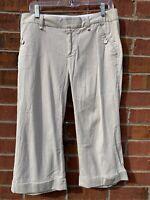 Gap Women's Size 8 Medium Beige Tan Cropped Short Pants Cotton Blend Capris