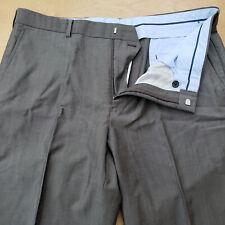 Brooks Brothers Regent Fit Wool Mohair Vitale Barberis Gray Flat Front Pants w36