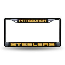 Pittsburgh Steelers NFL Black Metal Laser Cut License Plate Frame