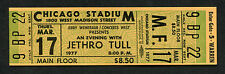 1977 Jethro Tull Unused Full concert ticket Songs From The Wood Chicago Stadium