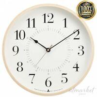 Lemnos TOKI Radio clock AWA13-05 WH white Wall clock Analog from JAPAN
