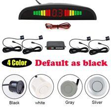 4 Sensors Car Reverse Parking Sensor Rear LCD Display Audio Buzzer Alarm Kit