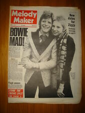 MELODY MAKER 1973 MAY 12 BOWIE STONE CROWS PINK FLOYD