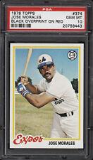 1978 Topps #374 Jose Morales Black Stitching On Ball - Expos - PSA 10 - 20045251
