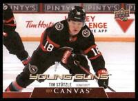 2020-21 UD Series 2 UD Canvas Young Guns #C211 Tim Stutzle RC - Ottawa Senators