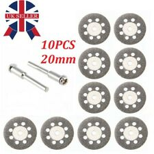 10pcs Diamond Cutting Off Disc Saw Blades Grinding Wheel for Dremel Rotary Kits