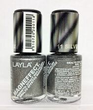 LAYLA- MAGNEFFECT Magnetic Effect 3D Nailpolish 11 SILVER GALAXY- NEW FROM ITALY