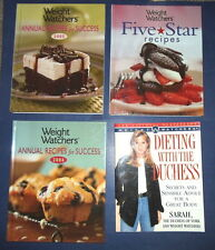 4~WEIGHT WATCHERS Annual & Five STAR RECIPE COOKBOOKS~DIETING WITH THE DUCHESS