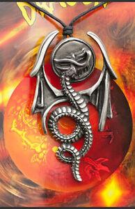 Anhänger + Riemen Tribal Ethno Dragon aus Zinn Schutz E6 7959