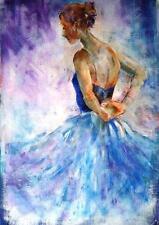 "BEAUTIFUL SERA KNIGHT ORIGINAL ""Reaching Back"" Ballet Dance ballerina PAINTING"