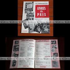 CATALOGUE FLAMMARION : Livres de prix 1958