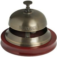 Brass Antique Finish Service Desk Bell - BNIB Shop/Hotel/Reception