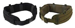 Polyester Battle Belt - D- Ring attachment Points - Black or OD - Med or Large