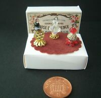 Miniature 1/12th scale dolls house Perfume Bottle set. Various sets