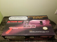 Nintendo NES Action Set Console Complete In Box CIB NIce!