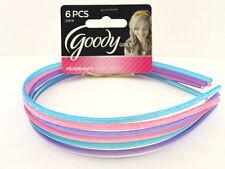 GOODY GIRLS GLITTER FILLED PLASTIC HEAD BANDS - 6 PCS. (22618)