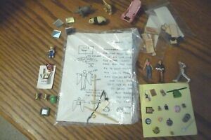 1/48 Dollhouse Miniature Chair Food Animal People Fireman Stool Chest Kit Lot