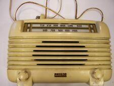 VINTAGE PHILCO BIEGE RADIO Tube Type Nice!!