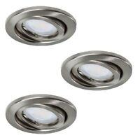 LED Einbauleuchte Einbaustrahler GU10 230V Einbauspot Einbaurahmen 3er SET Spot