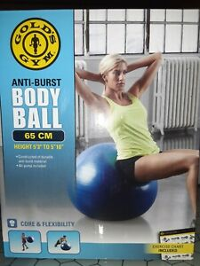 "Gold's Gym 65cm Anti-Burst Exercise Body Ball - 5'3"" to 5'10"""