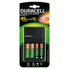 Duracell 45 Minute Battery Charger Hi Speed NiMH AA/AAA LED