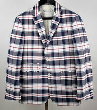 New BB1 Thom Browne Brooks Brothers Black Fleece plaid jacket blazer blue white