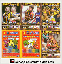 2005 AFL Teamcoach Trading Card How To Play Team set Hawthorn (9)