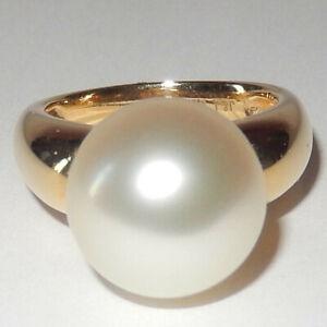 Ring Damenring mit Südsee Perle Weiß Ø 12,60mm 750 Gelbgold