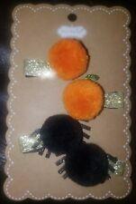 Mud Pie H8 Baby Girl Halloween Pom-Pom Hair Clip 4pc Set 10160006