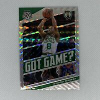 2019-20 Panini Mosaic Kemba Walker Got Game Green Mosaic Prizm #4 Celtics