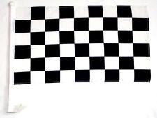 CAR DEALER SUPPLIES 12 Car Window Clip On Flags Black & White