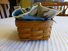 LONGABERGER-SWEET BASIL BOOKING BASKET WITH LINER & PROTECTOR -1994