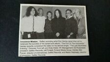 Don Henley.Innocence Mission Original Print Promo Pic/Text