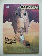 EO 2003 (très bel état) - Papyrus 26 (le masque d'Horus) - De Gieter - Dupuis