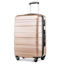 "Merax Lightweight Hard Shell 4 Wheel Travel Trolley Suitcase Luggage 28"" Gold"