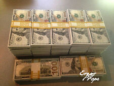 PROP MONEY New Style $100s $500,000 wrapped Filler Bundles For film - Over Night