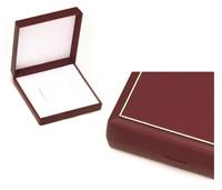 Bel Écrin Carré pour Collier / Jonc / Créoles - Boite Cadeau Rouge Cadre Doré