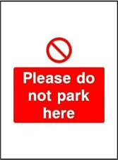 Please No parking, Warning Sign, 3mm composite sign or self adhesive sticker P50