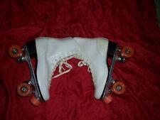 Vintage Roller Skates - Women's Size 10 - White Classic Quad Roller Derby~L@K!