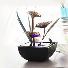 Decorative Indoor Water Fountains Resin Crafts Gifts Feng Shui Wheel Desktop 1pc