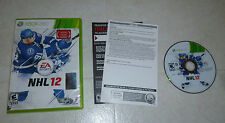 NHL 12 (Microsoft Xbox 360, 2011) Hockey Complete Tested NICE FAST SHIPPING EA