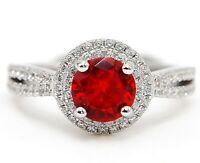 1CT Fire Garnet & Topaz 925 Solid Sterling Silver Ring Jewelry Sz 9, CO3