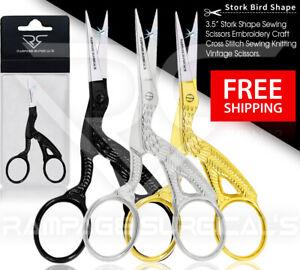 Stork Embroidery Scissors And Cross Stitch Sewing Craft Bird Small Tool Scissor