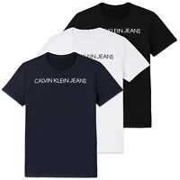 Calvin Klein T-Shirt - CK Jeans Institutional Logo Tee - Black, White, Navy
