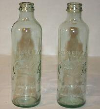 """2 Commemorative 2007 Replica of Hutchinson """"Hutch"""" 1st Style Coca Cola Bottles"""