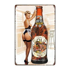 Metal Tin Sign hobgoblin beer gold Bar Pub Home Vintage Retro Poster Cafe ART