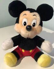 Vintage Disney Micky Mouse Plush Disneyland Walt Disney World Soft Toy