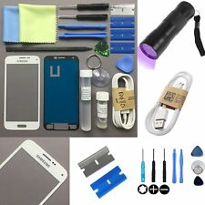Samsung Galaxy S3 Mini Vidrio Externo Lente De Reemplazo De Pantalla Kit de reparación blanco del Reino Unido