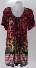Autograph Women's Plus Size Peasant Border Tunic Dress - Multi AU Womens 14